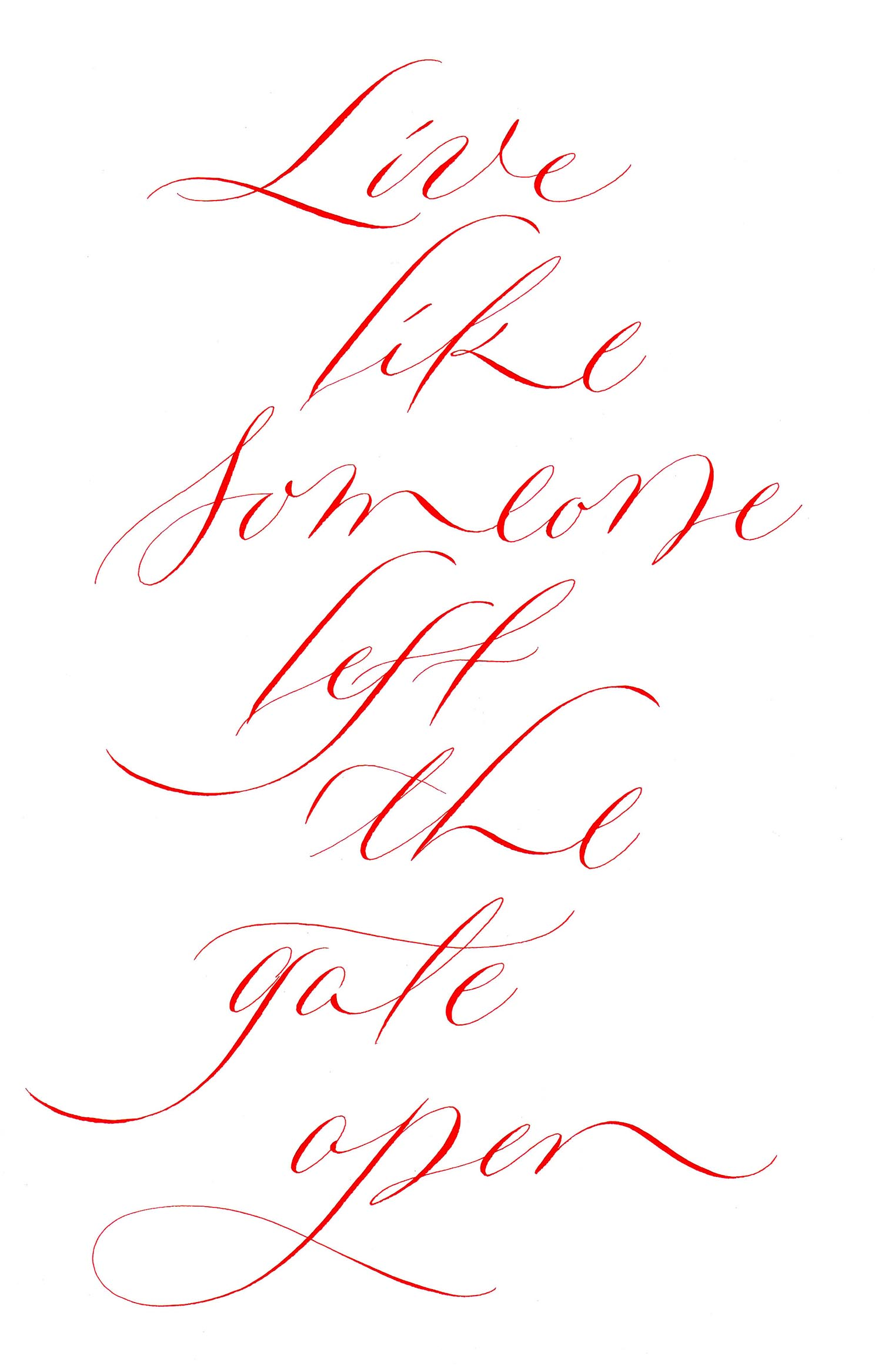 example 2 of Rachel Yallop' copperplate variations